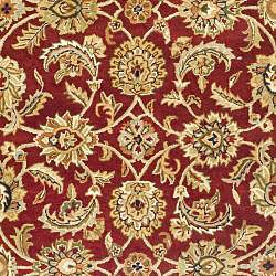 Handmade Classic Red/ Gold Wool Rug (96 x 136)