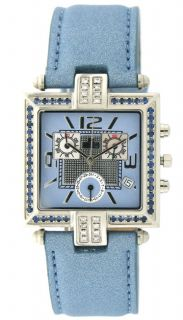 Lucien Piccard Empress Blue Sapphire Diamond Watch