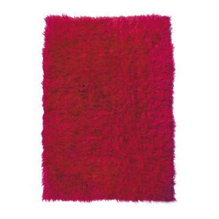 Super 2000 Gram Flokati Fuschia Wool Rug (7 x 10)