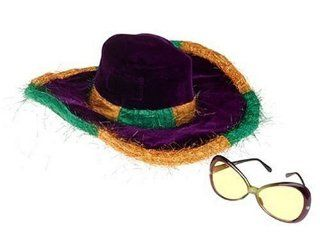 Mardi Gras Mambo Hat and Lounge Glasses Set Toys & Games