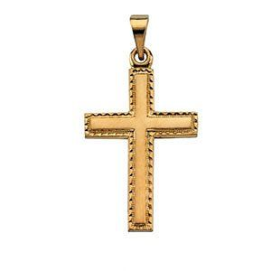 Petite 14k Yellow Gold Cross Pendant Jewelry