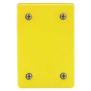 Weatherproof Cover, Blank Plate, Yellow