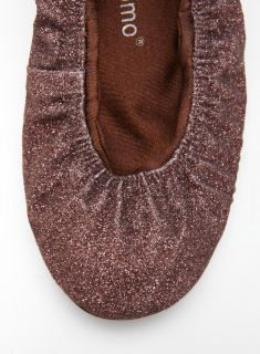 Ballasox Prince Flat In Brown Glitter