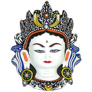 White Tara Paper Mache Mask (Nepal)