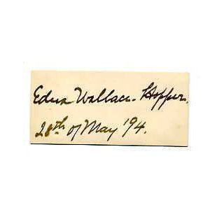 Edna Wallace Hopper Silent Film & Stage Actress Signed