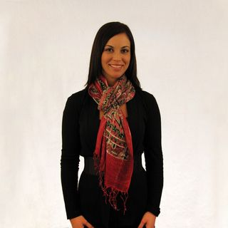 Joy Susan Red/ Green Paisley Scarf