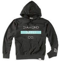 Diamond Supply Co Bar Pullover Sweatshirt   Mens