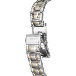 Seiko Womens Bracelet Two tone Steel Quartz Diamond Watch