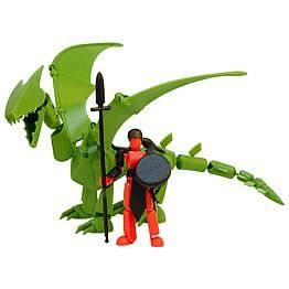 Stikfas Beta Female Warrior with Green Dragon Toys