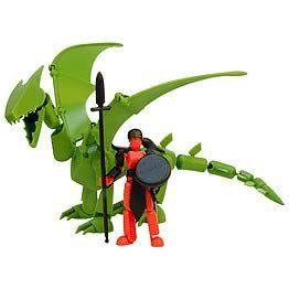 Stikfas Beta Female Warrior with Green Dragon: Toys