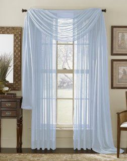Light Blue 216 Sheer Window Scarf