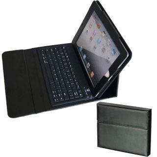 Premium iPad 2 PU Leather Binder Case with Bluetooth Keyboard and
