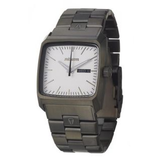 Nixon Mens The Graduate Black Stainless Steel Quartz Watch