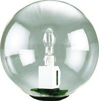 Outdoor Globe Post Light Fixture   HPS