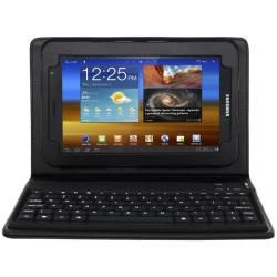 SKQUE Samsung Galaxy Tab 7.0 Plus Black Leather Case with Bluetooth