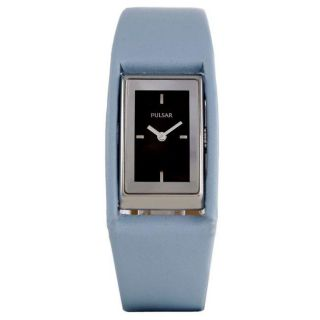 Pulsar Womens Casual Black Dial Leather Strap Watch