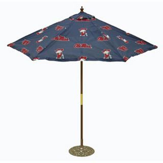 Ole Miss 9 foot College Logo Market Umbrella