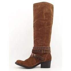 Bronx Womens Stuck On You Brown/Rust Knee High Shoes