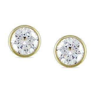 Miadora 10k Yellow Gold Cubic Zirconia Stud Earrings