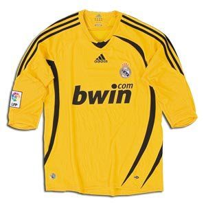 Real Madrid 08/09 Home LS Goalkeeper Jersey Clothing