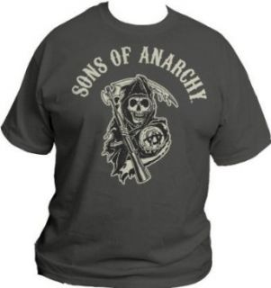 Sons of Anarchy S.O.A. Beige Logo Mens Charcoal T Shirt