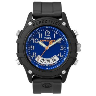 Timex Mens Rugged Combo Blue Dial Resin Watch