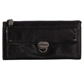 Kenneth Cole Reaction Leather Zip top Clutch Wallet
