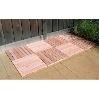 36 Square Feet of Redwood Deck Tiles