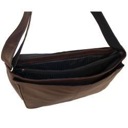 Latico Heritage Cafe Leather Messenger Bag