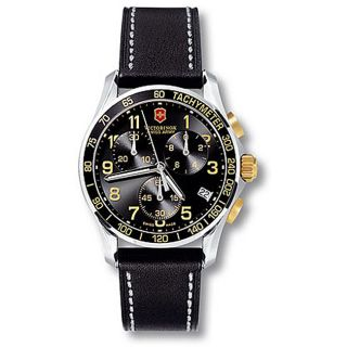 Swiss Army Chrono Classic Mens Leather Strap Watch