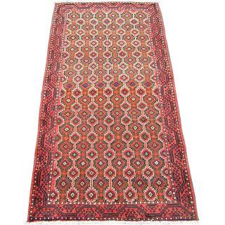 Iranian Hand knotted Wool Balouchi Rug (311 x 88)