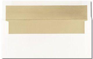 Business Size Envelope, Gold Foil Lined   100 Envelopes