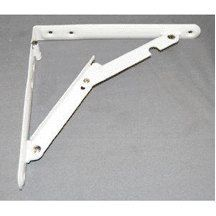 16 X 16 DELUXE HEAVY DUTY STEEL FOLDING SHELF BRACKET WHITE 2/BAG