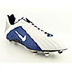 Nike Mens Super Speed D Lowtop White/Dark Royal Blue Football Shoes