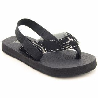 Sanuk Boys SKLASST Black Sandals (Size 9)