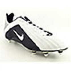 Nike Mens Super Speed D Lowtop White/Black Football Cleats (Size 16