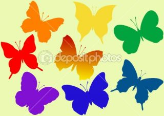 Colorful flying butterflies vector  Stock Vector © Alexey