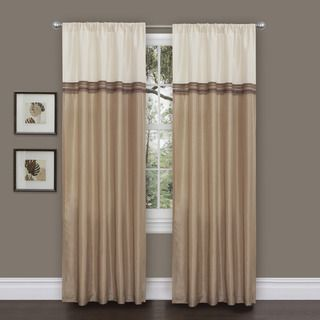 Lush Decor Terra Beige/ Ivory 84 inch Curtain Panels (Set of 2