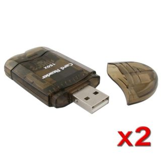 Smoke Colored Memory Card Reader to USB 2.0 Adapter (Pack of 2) Today