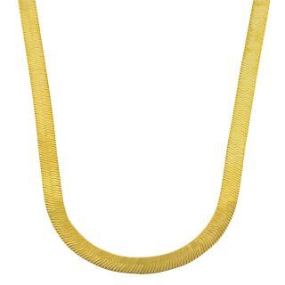 10k Two tone Gold Reversible Herringbone Necklace