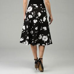 Lafayette 148 Womens Breezy Floral Circle Skirt