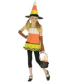 Candy Corn Witch Kids Costume   Large Toys & Games