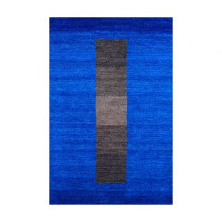 Indo Hand knotted Tibetan Blue Wool Rug (4 x 6)