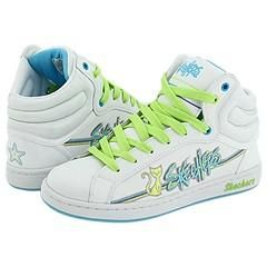 Skechers Bouncy White Blue Athletic
