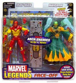 Marvel Legends Face Off Iron Man Vs. Mandarin Toys