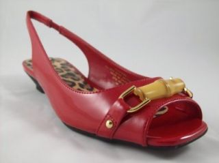com Anne Klein Iflex Womens Jondurak Slingback Peeptoe Flat Shoes