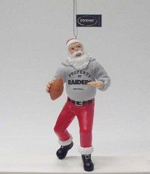 Oakland Raiders Santa Claus Christmas Ornament: Sports