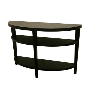 Charleston Modern Black Wood Sofa/ Console Table