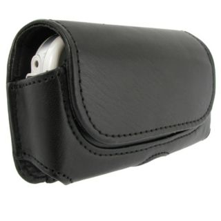 BasAcc Black Horizontal Leather Case for Palm Centro 690