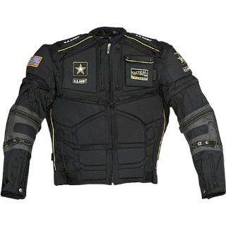 Power Trip U.S Army Flak Mens Textile Street Racing Motorcycle Jacket